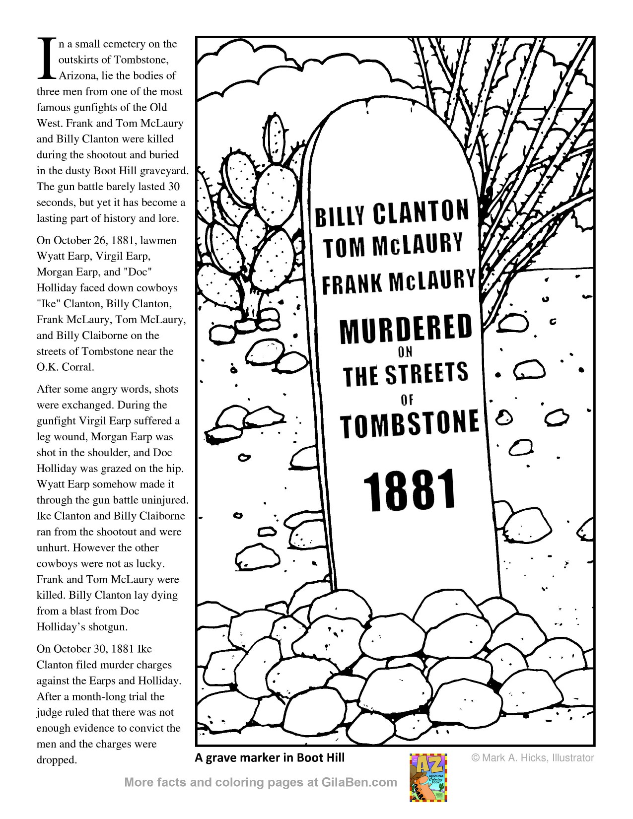 tombstones free coloring pages