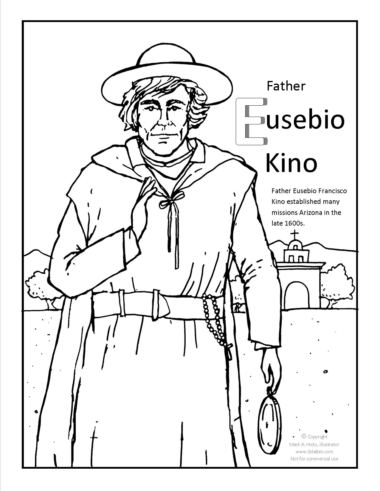 Father Kino Coloring page