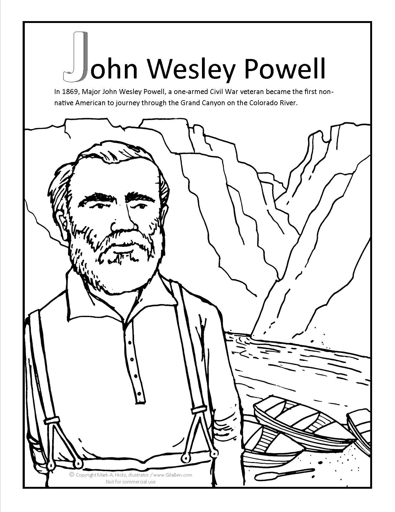 john wesley powell coloring page jpg