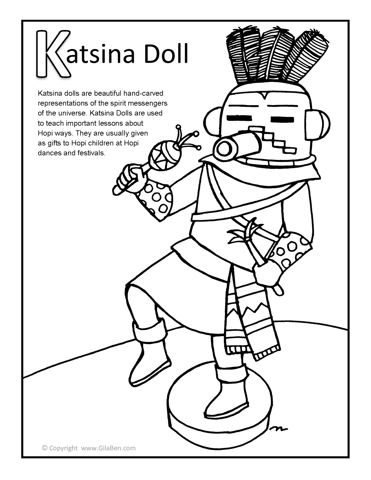 Free Coloring Pages Of Russian Nesting Dolls