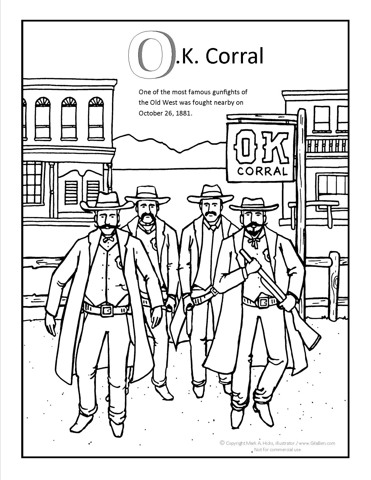 OK Corral Coloring page
